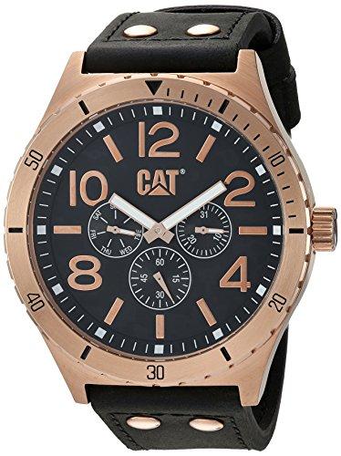 キャタピラー タフネス 腕時計 メンズ 頑丈 NI19934139 【送料無料】CAT WATCHES Men's 'Camden 48' Quartz Stainless Steel and Leather Casual, Color:Black (Model: NI19934139)キャタピラー タフネス 腕時計 メンズ 頑丈 NI19934139