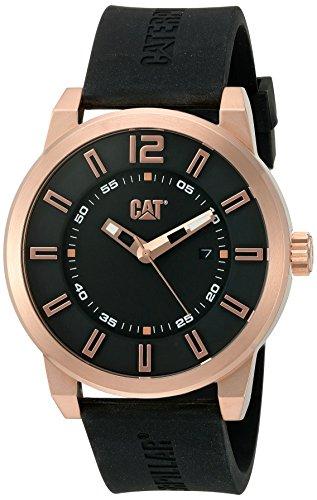 キャタピラー タフネス 腕時計 メンズ 頑丈 NK19121129 CAT WATCHES Men's 'Hardware' Quartz Stainless Steel and Silicone Watch, Color:Black (Model: NK19121129)キャタピラー タフネス 腕時計 メンズ 頑丈 NK19121129