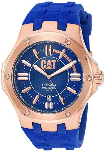 """キャタピラー タフネス 腕時計 メンズ 頑丈 A119126629 【送料無料】CAT WATCHES Men""""s """"Navigo"""" Quartz Stainless Steel and Rubber Watch, Color:Blue (Model: A119126629)キャタピラー タフネス 腕時計 メンズ 頑丈 A119126629"""