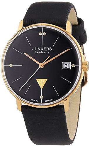 ユンカース ドイツ 腕時計 レディース Bauhaus Junkers Women's Bauhaus Quartz Watch with Black Dial Analogue Display and Black Leather Strapユンカース ドイツ 腕時計 レディース Bauhaus