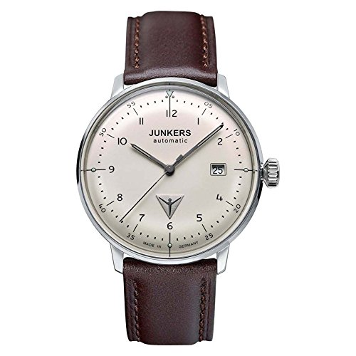 ユンカース ドイツ 腕時計 メンズ 6056-5 Junkers Bauhaus Men's Automatic 25J Analog Date Watch Brown Strap 6056-5ユンカース ドイツ 腕時計 メンズ 6056-5