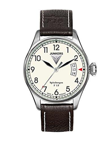 ユンカース ドイツ 腕時計 メンズ Spitzbergen F13 Spitzbergen f13 Mens Analog Quartz Watch with Leather Bracelet 6170-5ユンカース ドイツ 腕時計 メンズ Spitzbergen F13