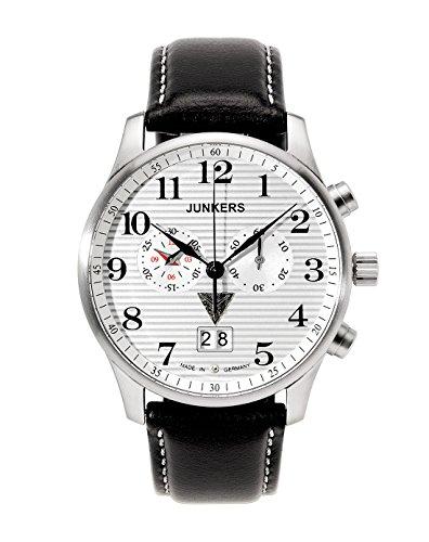ユンカース ドイツ 腕時計 メンズ 6686-1 Junkers Iron Annie JU52 Big Date Men's Chrono Watch 6686-1ユンカース ドイツ 腕時計 メンズ 6686-1