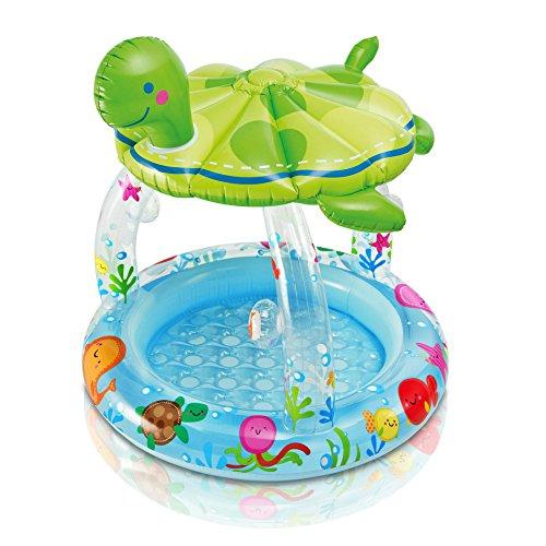 プール ビニールプール ファミリープール オーバルプール 家庭用プール 57119EP Intex Sea Turtle Shade Inflatable Baby Pool, 40