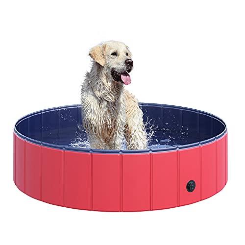 プール ビニールプール ファミリープール オーバルプール 家庭用プール D01-004RD 【送料無料】PawHut Pet Swimming Pool Dog Bathing Tub 12
