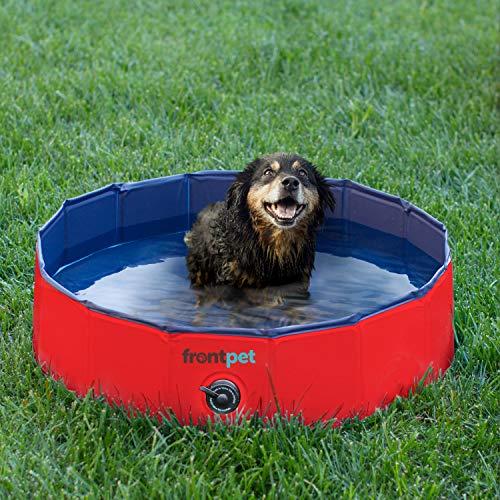 プール ビニールプール ファミリープール オーバルプール 家庭用プール FrontPet Foldable Dog Pet Pool Bathing Tub, 32-Inches x 11.8-Inchesプール ビニールプール ファミリープール オーバルプール 家庭用プール