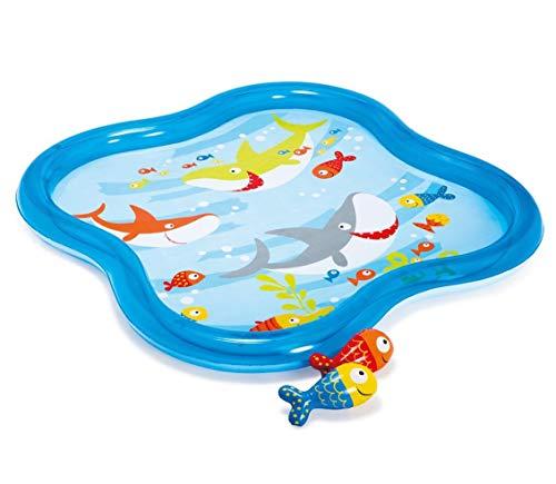プール ビニールプール ファミリープール オーバルプール 家庭用プール Intex Inflatable Square Fish Aquarium Baby Kiddie Spray Pool (55 in x 55 in x 4.5 in)プール ビニールプール ファミリープール オーバルプール 家庭用プール