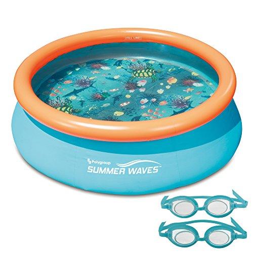 プール ビニールプール ファミリープール オーバルプール 家庭用プール NT5007 Blue Wave 3D Quick Set Round Family Pool - 7-ftプール ビニールプール ファミリープール オーバルプール 家庭用プール NT5007