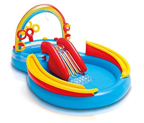 プール ビニールプール ファミリープール オーバルプール 家庭用プール Intex Inflatable Kids Pool,Water Play Center w/Slide + Quick Fill Air Pumpプール ビニールプール ファミリープール オーバルプール 家庭用プール