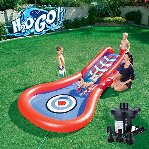 プール ビニールプール ファミリープール オーバルプール 家庭用プール H2OGO! Splash and Play Cannon Ball Inflatable Kiddie Slide Swimming Pool with Electric Pumpプール ビニールプール ファミリープール オーバルプール 家庭用プール