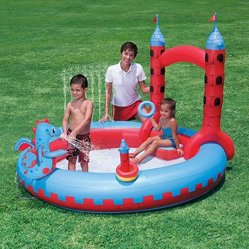 プール ビニールプール ファミリープール オーバルプール 家庭用プール Bestway Splash and Play Interactive Castle Play Center Poolプール ビニールプール ファミリープール オーバルプール 家庭用プール