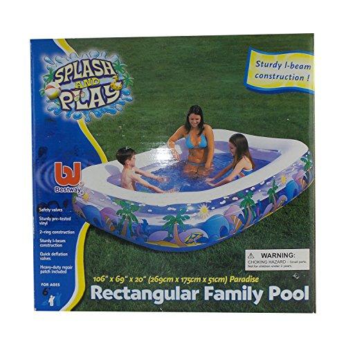 プール ビニールプール ファミリープール オーバルプール 家庭用プール Bestway Splash And Play Paradise Rectangular Family Pool 106