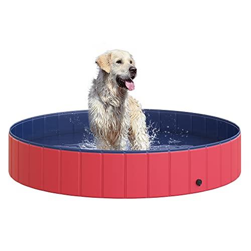 プール ビニールプール ファミリープール オーバルプール 家庭用プール D01-005 PawHut Pet Swimming Pool Dog Bathing Tub 12