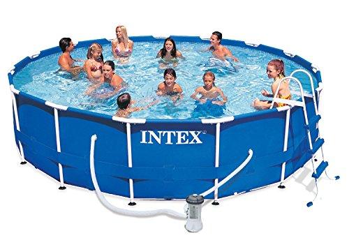 プール ビニールプール ファミリープール オーバルプール 家庭用プール 28233EG Intex Metal Frame Pool Set, 15-Feet x 42-Inchプール ビニールプール ファミリープール オーバルプール 家庭用プール 28233EG