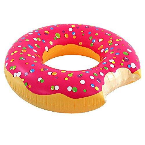 フロート プール 水遊び 浮き輪 Play Platoon Jumbo Donut Pool Float - Gigantic Pink Donut Inflatable - Fun for The Beach or Pool, Includes Patch Kitフロート プール 水遊び 浮き輪