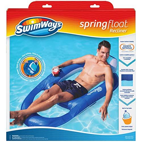 フロート プール 水遊び 浮き輪 13343-162 SwimWays Spring Float Recliner - Swim Lounger for Pool or Lake - Dark Blue/Light Blueフロート プール 水遊び 浮き輪 13343-162