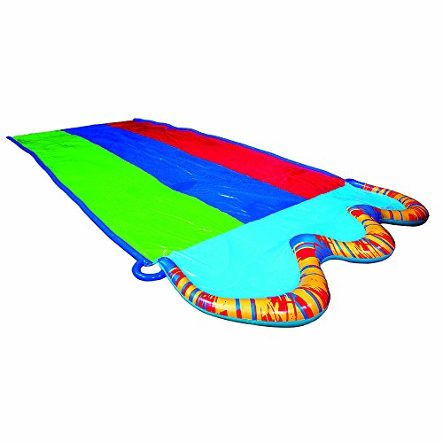 フロート プール 水遊び 浮き輪 BANZAI Triple Racer Water Slide with 16 Foot Triple Three Racing Lanes and Spray Splash Pool ( Adventure Summer & Spring Toy Backyard Fun )フロート プール 水遊び 浮き輪