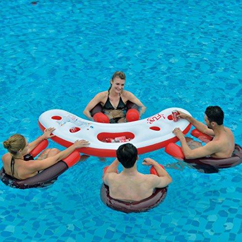 フロート プール 水遊び 浮き輪 6920388601559 Floating Swimming Pool Water Bar with Four (4) Noodle Chairsフロート プール 水遊び 浮き輪 6920388601559