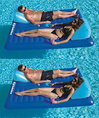 フロート プール 水遊び 浮き輪 2) New Swimline 16141SF Swimming Pool Inflatable Durable 2 Person Air Mattressesフロート プール 水遊び 浮き輪