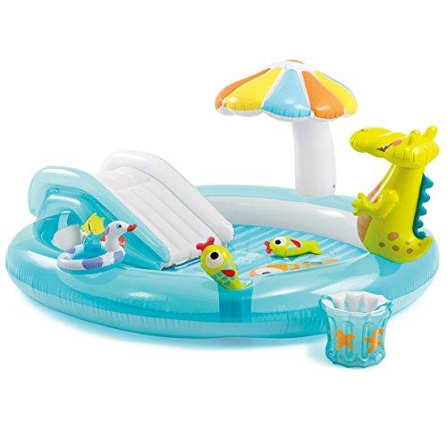 フロート プール 水遊び おもちゃ 57129EP Intex Gator Inflatable Play Center, 80