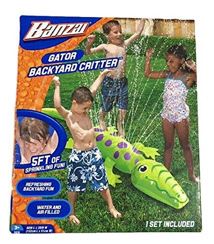 フロート プール 水遊び おもちゃ Banzai Gator Backyard Critter Sprinklerフロート プール 水遊び おもちゃ