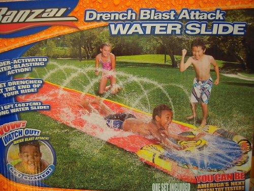 フロート プール 水遊び おもちゃ Banzai Drench Blast Attack Water Slide - 16 ftフロート プール 水遊び おもちゃ