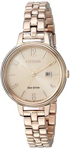 シチズン 逆輸入 海外モデル 海外限定 アメリカ直輸入 EW2443-55X Citizen Women's 'Silhouette' Quartz Stainless Steel Casual Watch, Color:Rose Gold-Toned (Model: EW2443-55X)シチズン 逆輸入 海外モデル 海外限定 アメリカ直輸入 EW2443-55X