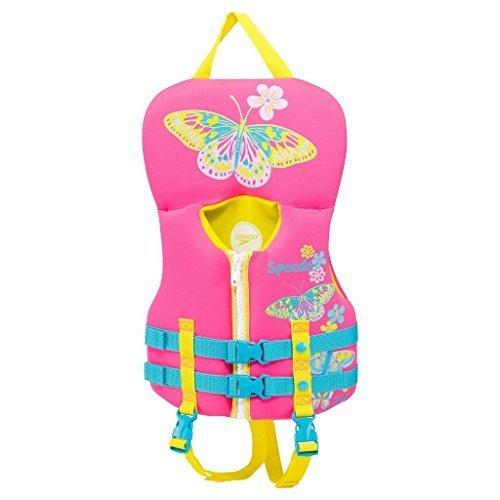 フロート プール 水遊び 浮き輪 夏のアクティビティ特集 Speedo Infant Girls Neoprene Personal Flotation Device Lifejacket Pink/Yellow Butterfly…フロート プール 水遊び 浮き輪 夏のアクティビティ特集