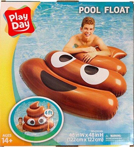 フロート プール 水遊び 浮き輪 play Poop Emoji Pool Lounger 4 ftフロート プール 水遊び 浮き輪