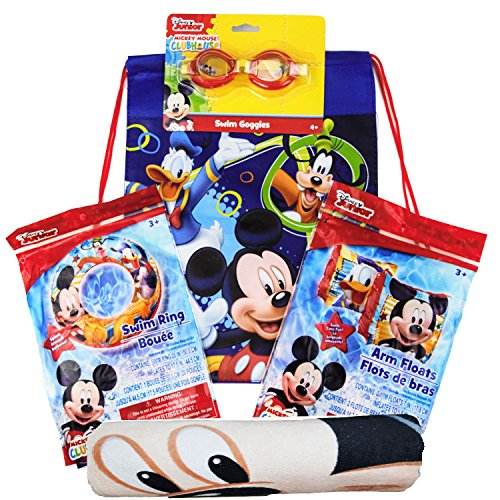 フロート プール 水遊び 浮き輪 Disney Mickey Mouse Draw String Bag, Googles, Swimming Ring, Floaties Swimming Pool Bundleフロート プール 水遊び 浮き輪