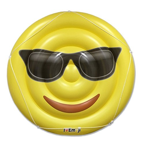 フロート プール 水遊び 浮き輪 I EM JI Cool Emoji Pool Floats for Adults and Children ? Giant Pool Floatie ? Sunglasses Emoji Pool Toyフロート プール 水遊び 浮き輪