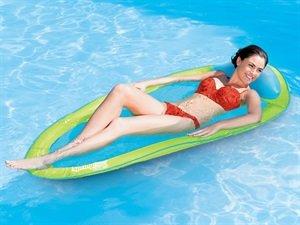 フロート プール 水遊び 浮き輪 Swim Ways Adult Spring Float Lime & Aqua Blueフロート プール 水遊び 浮き輪