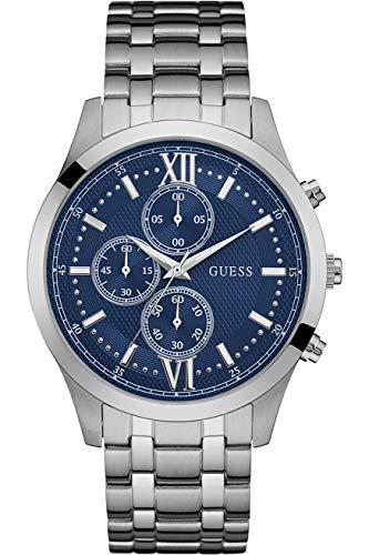 【即納】【送料無料】【当店1年保証】ゲスGUESS メンズ腕時計 W0875G1 クロノグラフ ブルーダイヤル ステンレススチール