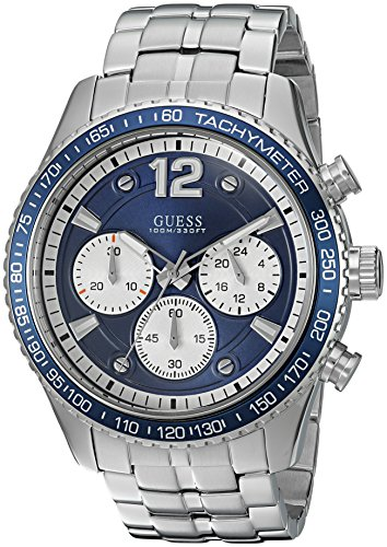 ゲス GUESS 腕時計 メンズ U0969G1 GUESS Men's Quartz Watch with Stainless-Steel Strap, Silver, 13 (Model: U0969G1)ゲス GUESS 腕時計 メンズ U0969G1