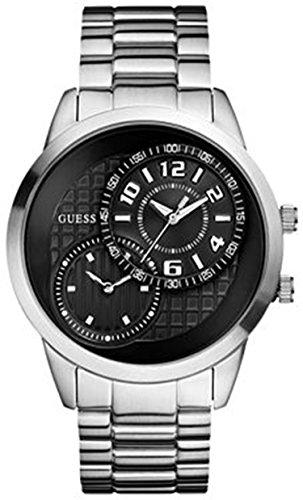 ゲス GUESS 腕時計 メンズ U13616G1 Guess Men's U13616G1 Silver Stainless-Steel Quartz Watch with Black Dialゲス GUESS 腕時計 メンズ U13616G1