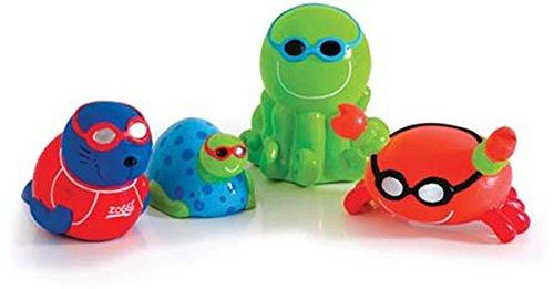 フロート プール 水遊び 浮き輪 Zoggs Childrens Swimming Pool Fun Little Squirts Toys Set Of 4フロート プール 水遊び 浮き輪