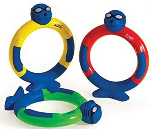 フロート プール 水遊び 浮き輪 Zoggs Pool Swimming Diving Fun Game Set Of 3 Dive Ringsフロート プール 水遊び 浮き輪