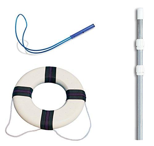 フロート プール 水遊び 浮き輪 Swimline Hydrotools 89900 Pool Emergency Safety Hook w/ 4-12' Pole + Life Ringフロート プール 水遊び 浮き輪
