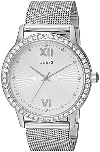 ゲス GUESS 腕時計 レディース U0766L1 【送料無料】GUESS Women's Stainless Steel Crystal Mesh Bracelet Watch, Color: Silver-Tone (Model: U0766L1)ゲス GUESS 腕時計 レディース U0766L1