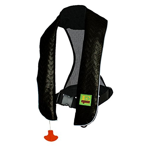 フロート プール 水遊び 浮き輪 Eyson Inflatable Life Jacket Inflatable Life Vest Deluxe Leather PFD Manual (Black)フロート プール 水遊び 浮き輪