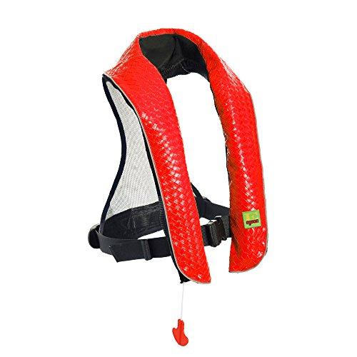 フロート プール 水遊び 浮き輪 Eyson Inflatable Life Jacket Inflatable Life Vest Deluxe Leather PFD Manual (Red)フロート プール 水遊び 浮き輪