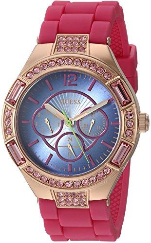 ゲス GUESS 腕時計 レディース U0777L1 GUESS Women's U0777L1 Sporty Rose Gold-Tone Stainless Steel Watch with Multi-function Dial and Pink Strap Buckleゲス GUESS 腕時計 レディース U0777L1