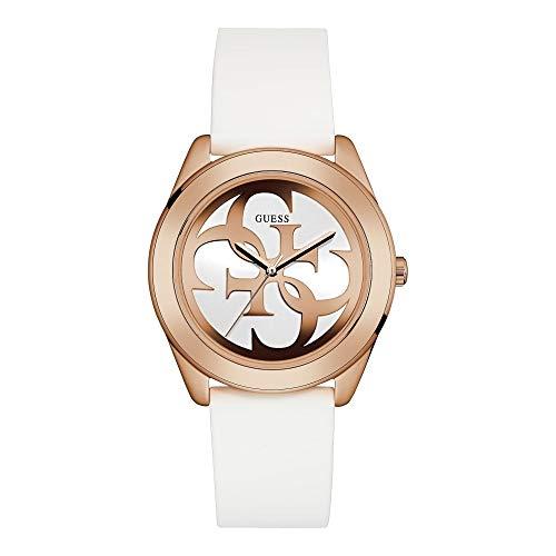 ゲス GUESS 腕時計 レディース W0911L5 Guess G Twist White Dial Silicone Strap Ladies Watch W0911L5ゲス GUESS 腕時計 レディース W0911L5