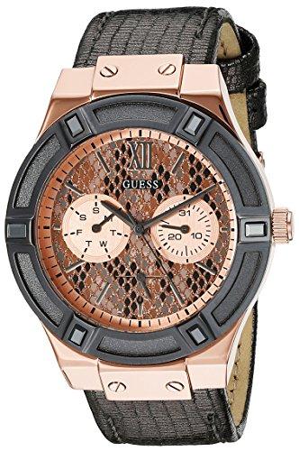 ゲス GUESS 腕時計 レディース U0289L4 GUESS Women's U0289L4 Rose Gold-Tone Multi-Function Watch with Grey Python Dialゲス GUESS 腕時計 レディース U0289L4