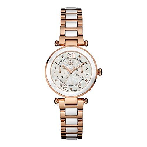 ゲス GUESS 腕時計 レディース Y06004L1 【送料無料】GUESS GC Rose Gold & White Ceramic Timepieceゲス GUESS 腕時計 レディース Y06004L1