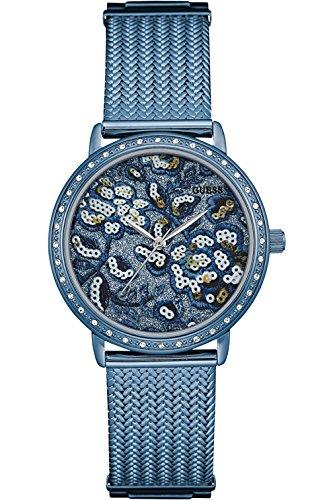 ゲス GUESS 腕時計 レディース W0822L3 GUESS W0822L3,Ladies Dress,Stainless Steel,Blue-Tone,Crystal Accented Bezel,30m WRゲス GUESS 腕時計 レディース W0822L3