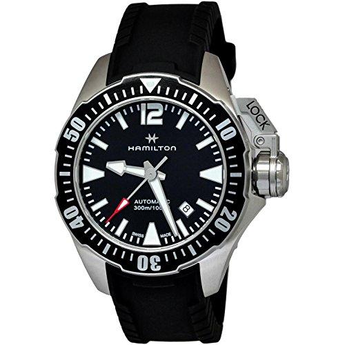 腕時計 ハミルトン メンズ H77605335 【送料無料】Hamilton Khaki Navy Frogman Automatic Men's Watch H77605335腕時計 ハミルトン メンズ H77605335