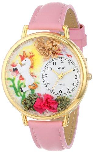 気まぐれな腕時計 かわいい プレゼント クリスマス ユニセックス WHIMS-G1610002 【送料無料】Whimsical Watches Women's G1610002 Unicorn Pink Leather Watch気まぐれな腕時計 かわいい プレゼント クリスマス ユニセックス WHIMS-G1610002