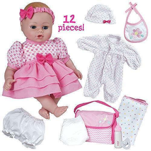 全ての アドラベビードール リアル 赤ちゃん リアル Girl 本物そっくり おままごと 217301 Adora PlayTime Doll Baby 12 Piece Gift Set Pink 13