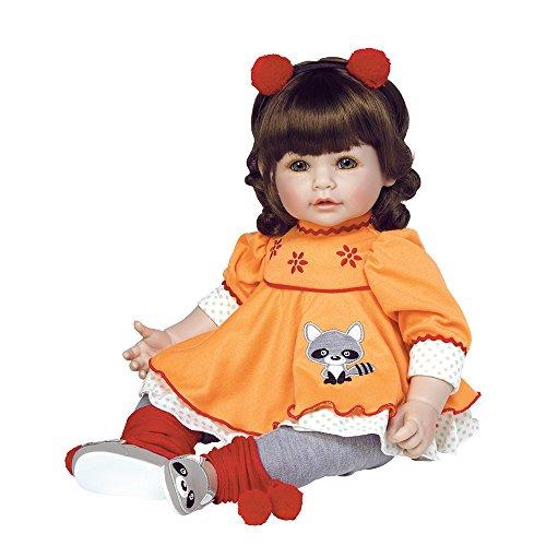 アドラベビードール 赤ちゃん リアル 本物そっくり おままごと 217901 Adora ToddlerTime Girl Doll, Macaraccoon, Weighted Vinyl Baby Doll Toy with Soft Body, 20-inch (Ages 6+)アドラベビードール 赤ちゃん リアル 本物そっくり おままごと 217901